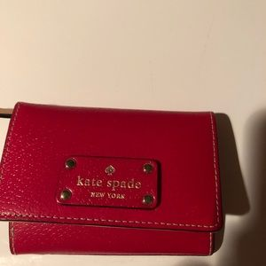 Red Kate spade very little wallet